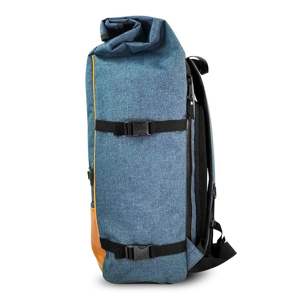 roll up back pack navy blue skunk bags. Black Bedroom Furniture Sets. Home Design Ideas